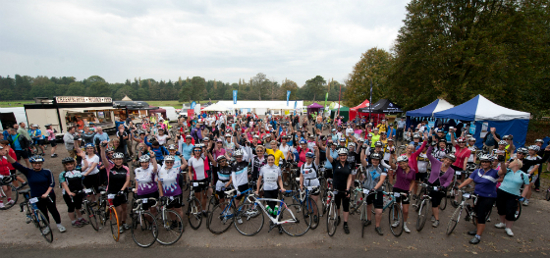 Edge Hair was asked to help support Cycletta, the ladies cycling event, a charity supported by SkyRide.