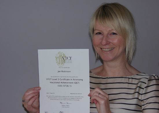 VTCT Certification for Edge hair's Jan Robinson!