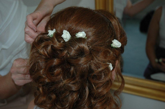 Styling the bride for her big day - hair by Edge Hair!