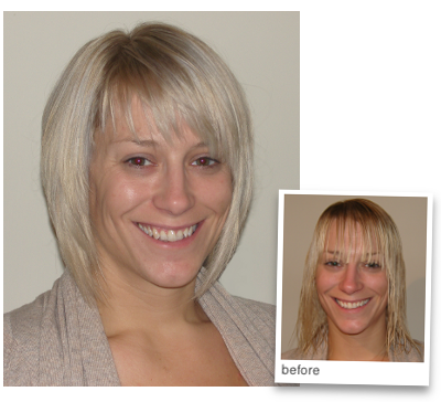 a fab bob to complement a stylish blonde